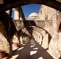 Arches of San Jan Mission near San Antonio Royalty Free Stock Photo
