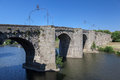 Arches stone pont vieux old bridge over aude river carcassonne france Stock Images
