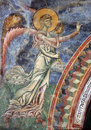 Archiangel gabriel frescoe kurbinovo of church saint george village of macedonia ad Stock Photography