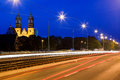 The archicathedral basilica of st peter and st paul in poznan warta river poland Stock Photo