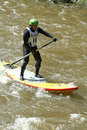 Archie Kalepa - Stand Up Paddling Stock Photo