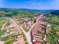 Archita Saxon Village Transylvania Romania aerial view