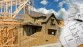 Architect Construction Montage Royalty Free Stock Photos