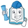 Architect opened book isolated in the character Royalty Free Stock Photo