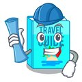 Architect travel guide book isolated in cartoon Royalty Free Stock Photo