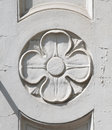 Architectonic decoration a beautiful detailed with flower Stock Images