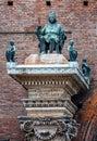 An architectonic detail from Ferrara Royalty Free Stock Photo