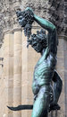 Architectonic detail perseus holding the head of medusa by benvenuto cellini Stock Image
