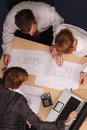 Architects brainstorming Stock Image