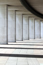 Architectural abstract shapes modern marble colonnade Stock Images