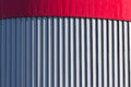 Architectural abstraction in the form of vertical stripes. Backgrounds and textures Royalty Free Stock Photo