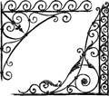 Architectural adornment vector image of the two decorative corners Stock Photos