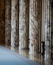 Architectural columns inside a classical style building Royalty Free Stock Photo