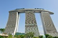 Architectural design of Marina Bay Sands Singapore Royalty Free Stock Photography