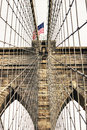 Architectural Detail of Brooklyn Bridge Royalty Free Stock Photography