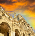Architectural detail of Buildings along Louvre Royalty Free Stock Photo