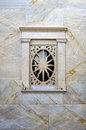 Architectural detail of a Catholic church in Ermoupolis, Syros island, Cyclades, Greece Royalty Free Stock Photo