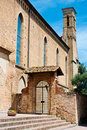 Architectural detail of a Church in San Gimignano Stock Photos