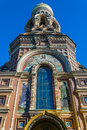 Architectural detail of the church of the savior on blood in st petersburg Stock Photography