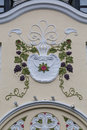 Architectural detail -  facade of an Art Nouveau building Royalty Free Stock Photo