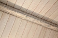 Architectural detail of an indoor wooden ceiling Royalty Free Stock Photo