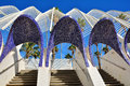 Architectural detail of L`Umbracle , Valencia