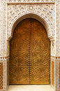Architectural detail in marrakesh morocco africa Stock Images