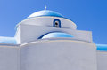 Architectural detail of an Orthodox church, in Kimolos island, Cyclades, Greece Royalty Free Stock Photo