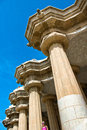 Architectural detail at parc güell in barcelona spain may guell may spain Royalty Free Stock Photos