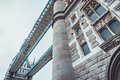 Architectural detail of the Tower Bridge, London Royalty Free Stock Photo