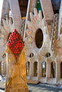 Architectural details in Gaudi's Stock Image