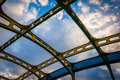 Architectural details on the howard street bridge in baltimore maryland Stock Photo
