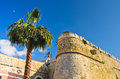 Architectural details of old fortress Bastione San Remy, in Cagliari, Sardinia Royalty Free Stock Photo