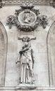 Architectural details of Opera National de Paris: Dance Facade sculpture by Carpeaux. Royalty Free Stock Photo