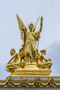 Architectural details of Opera, Paris Royalty Free Stock Photo