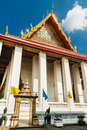 Architectural details of palace at Wat  Phra Kaew temple, Bangkok Royalty Free Stock Photo