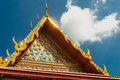 Architectural details of palace at Wat  Phra Kaew temple, Bangkok, Thailand. Royalty Free Stock Photo