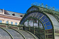Architectural details of Palmenhaus Vienna Royalty Free Stock Photo