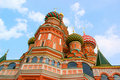 Architectural details of St Basil's Cathedral Royalty Free Stock Photo