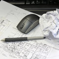 Architectural drawings Royalty Free Stock Photography