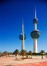 Architectural icons of the Kuwait City Royalty Free Stock Photo