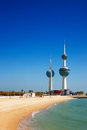 Architectural icons of the Kuwait City Stock Photo
