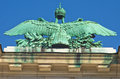 Architectural and imperial heraldry details on Hofburg palace in Vienna Royalty Free Stock Photo