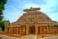 The architectural masterpiece of Buddhist at Sanchi Royalty Free Stock Photo