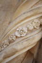 Architectural ornament closeup of in sibenik croatia Royalty Free Stock Photography