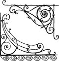 Architectural ornament vector image of the two decorative corners Royalty Free Stock Photography
