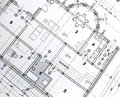 Architectural plan Stock Image