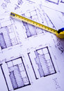 Architectural plans Royalty Free Stock Photography