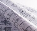 Architectural plans for the roll Stock Photos