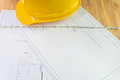 Architectural plans and tools for remodeling a home Royalty Free Stock Photo